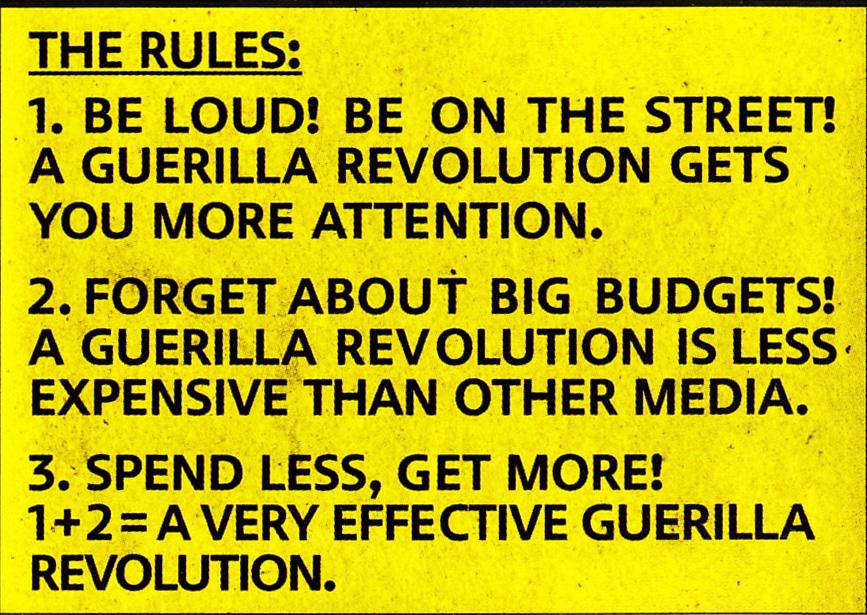 rules guerilla